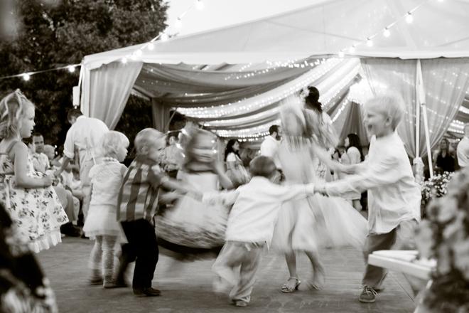 Kids dancing at the wedding...