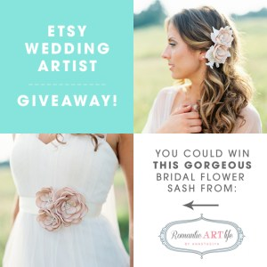 Romantic ART life bridal sash giveaway