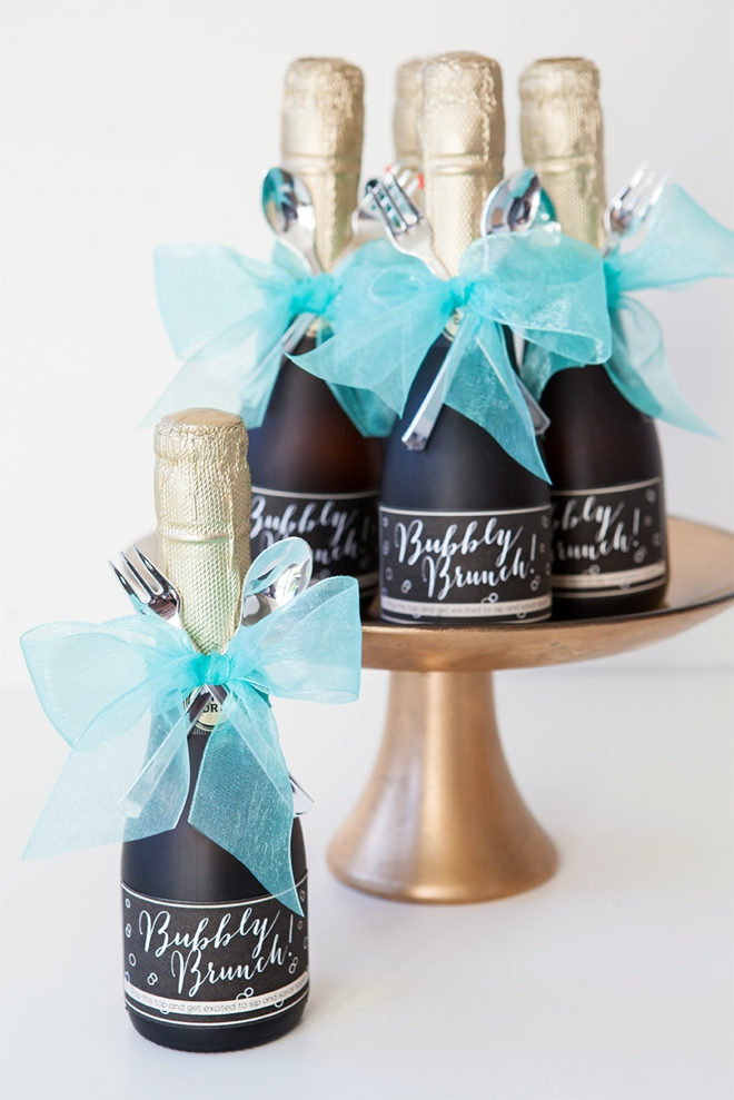 Make These Darling Mini Champagne Brunch Invitations