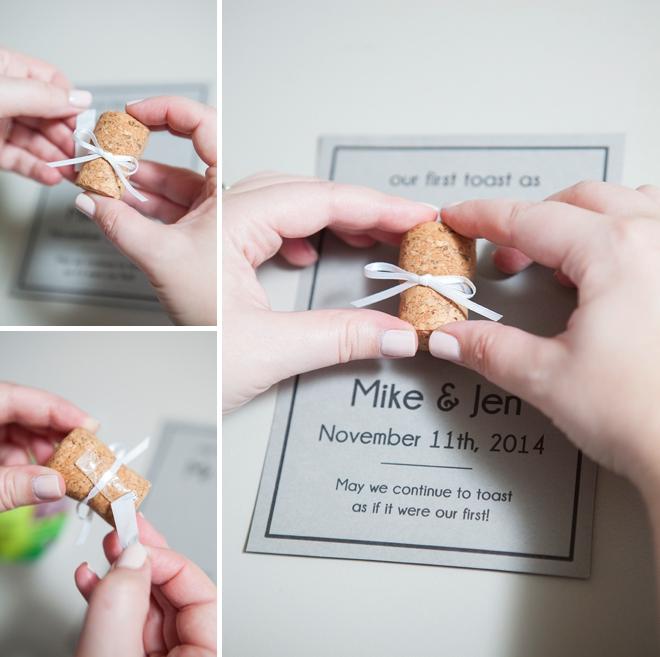 DIY cork keepsake frame