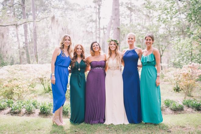 Gorgeous jewel tone bridesmaid dresses