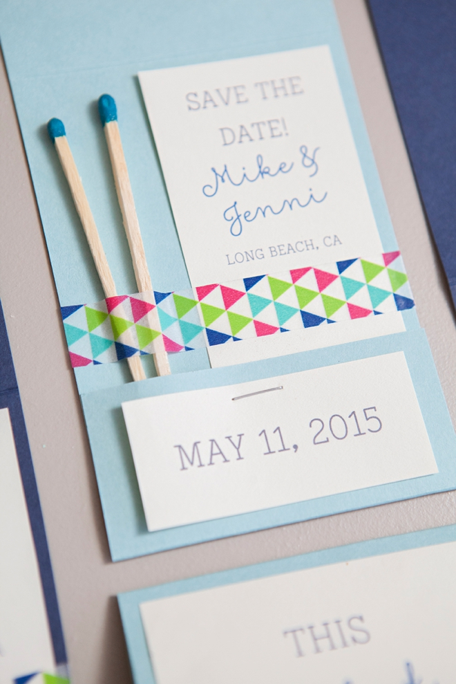 DIY Perfect Match Save the Date Invitations