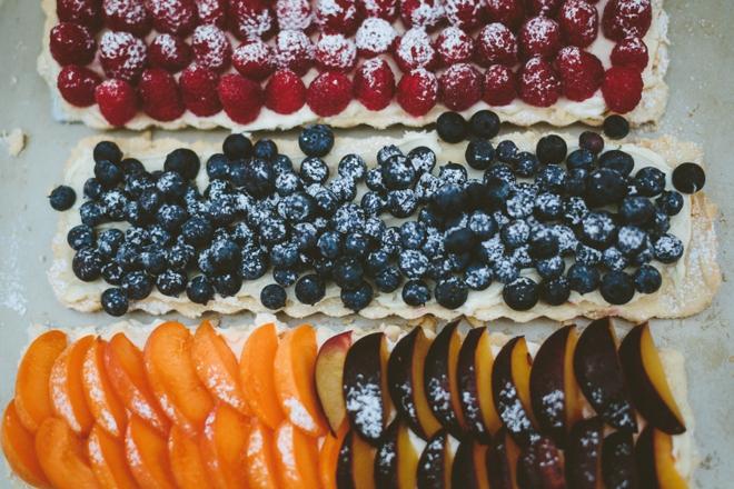 Rustic fruit tarts