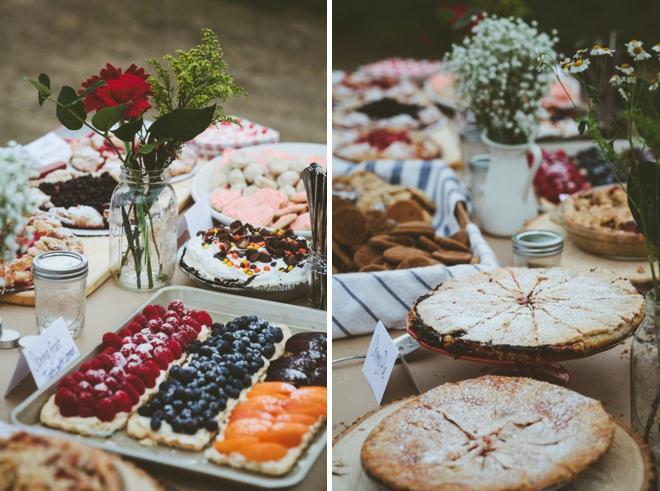 Rustic tarts and wedding desserts