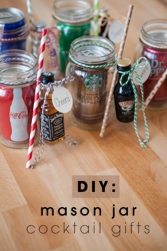 Mason Jar Cocktail Gifts - Handmade Gifts for Men