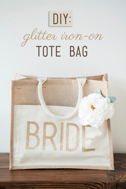 DIY - How to customize a tote bag with glitter iron-on material!