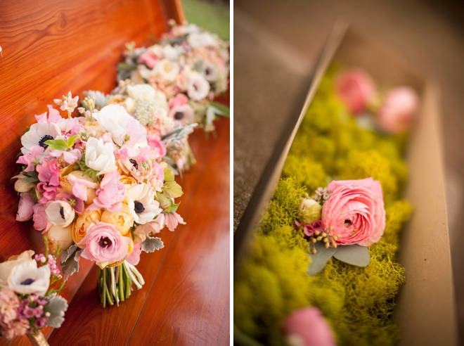 Gorgeous pale pink wedding flowers