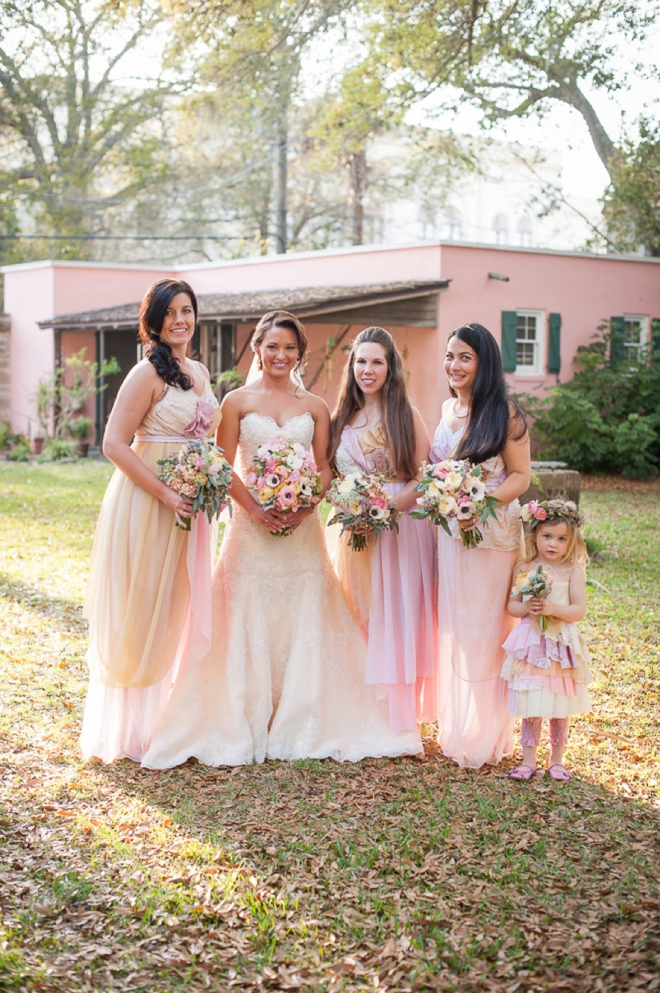The bride and her maids