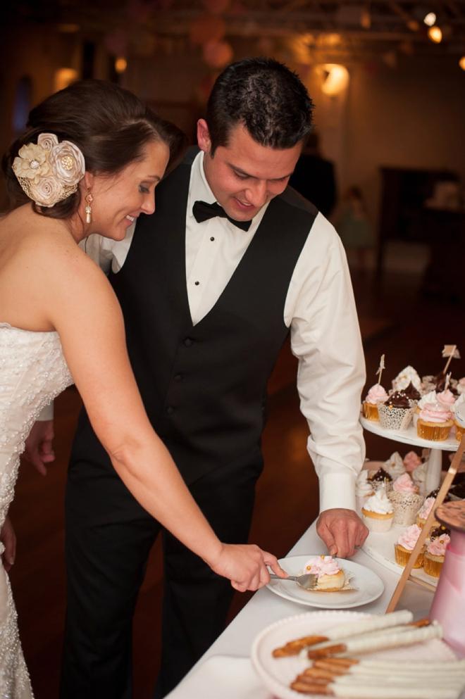 Cutting the cupcake
