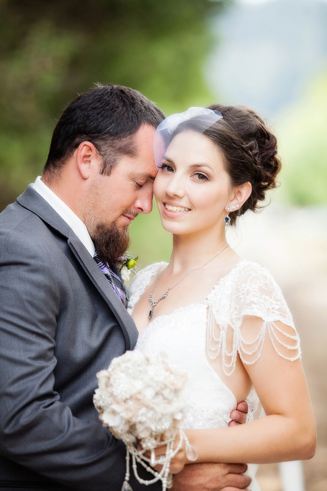 Gorgeous bride and her groom