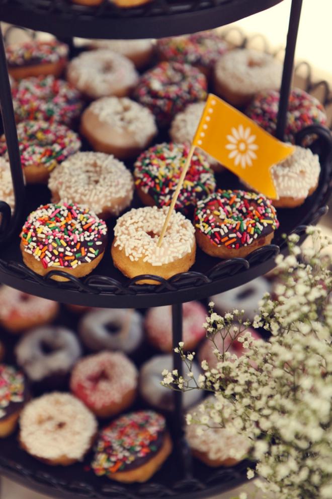Mini donuts for wedding dessert!
