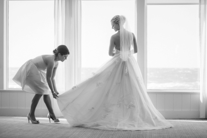 "Gorgeous wedding ""getting ready"" shot"