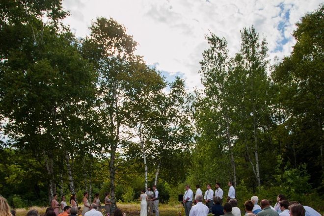 DIY mountain wedding ceremony