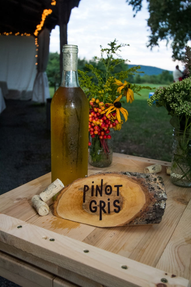 Pinot Gris for a mountain wedding