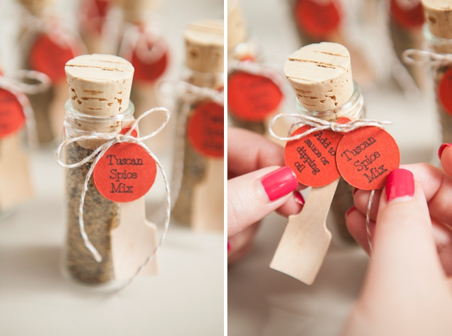 DIY Wedding Favors -- Tuscan Infusion Spice Mix!
