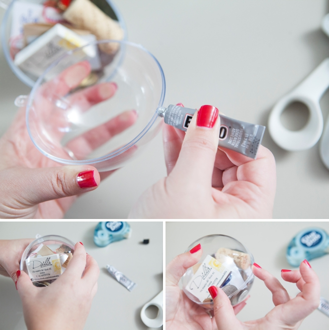 DIY - How to make a honeymoon keepsake ornament!