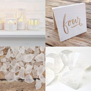 White Wedding Ideas from Etsy