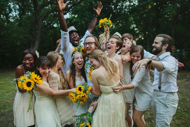 Outrageously fun bridal party