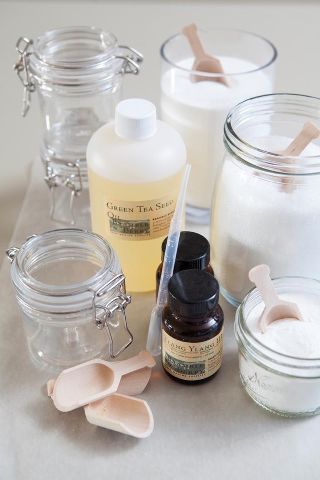 Ingredients for making Bath Salts