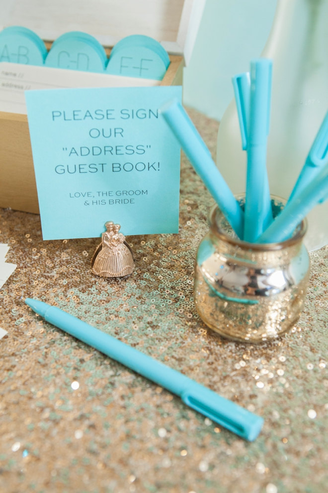 DIY address book - guest book