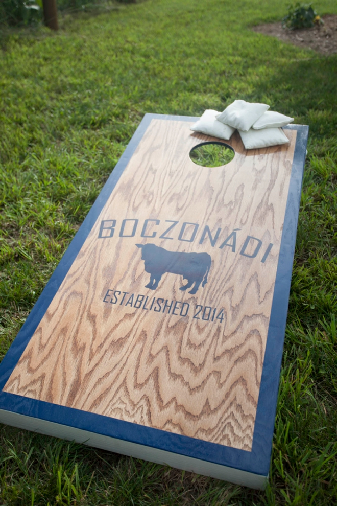 Custom wedding cornhole