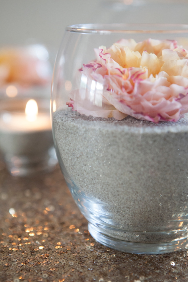 Make These Gorgeous Sand And Flower Centerpieces