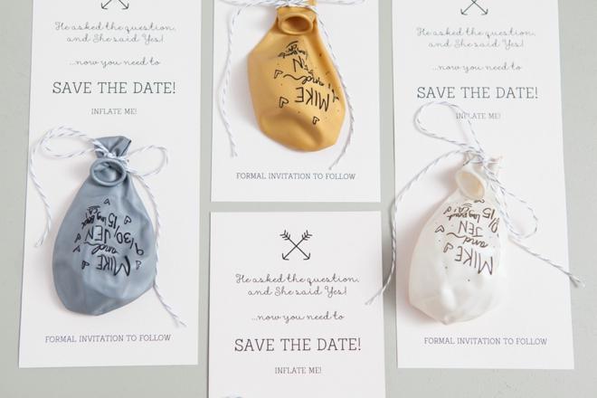 DIY - Sharpie Balloon Save the Date Invitation