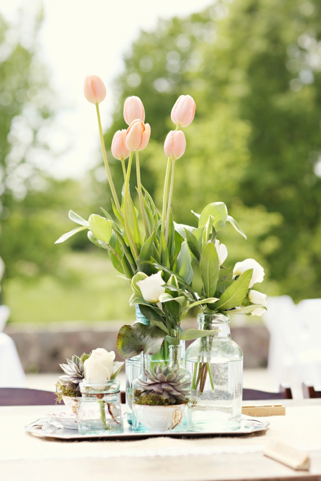 Spring DIY table decor