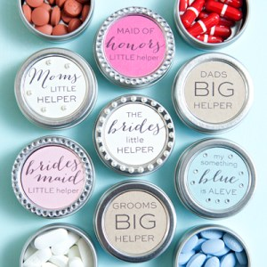 DIY wedding pill boxes