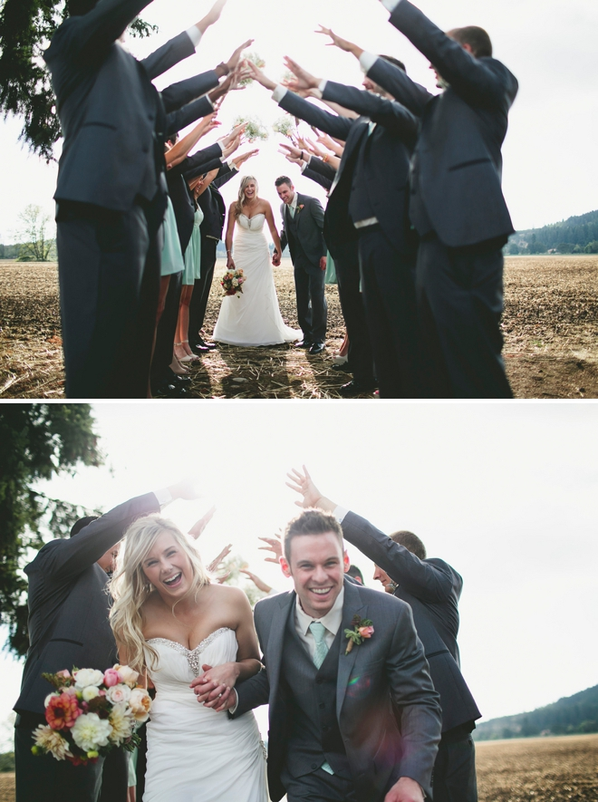 Bridal party tunnel!
