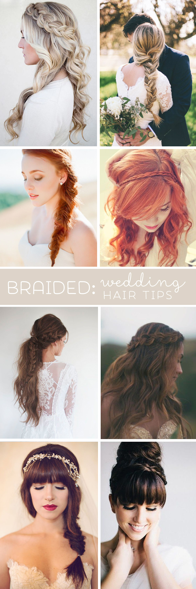 "Wedding hair tips for ""braids"""