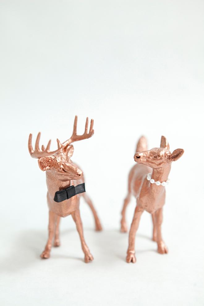 DIY Painted Deer Cake Toppers