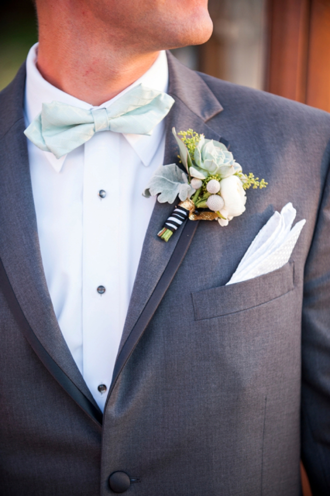 Groom with mint details