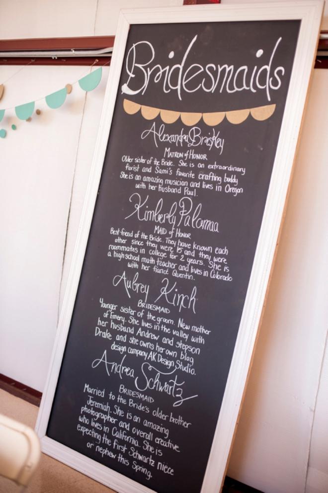 Bridesmaids sign
