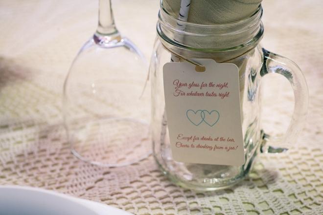 Mason jar glass for the night