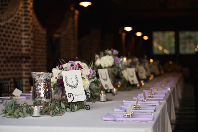 Stunning lavender tablescape
