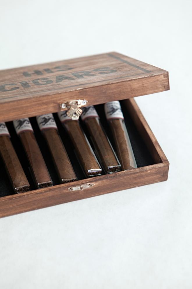 DIY Groom's Cigar Box Milestone Gift