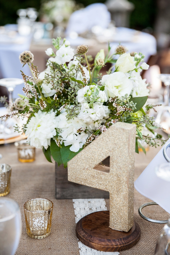 Large glitter table numbers
