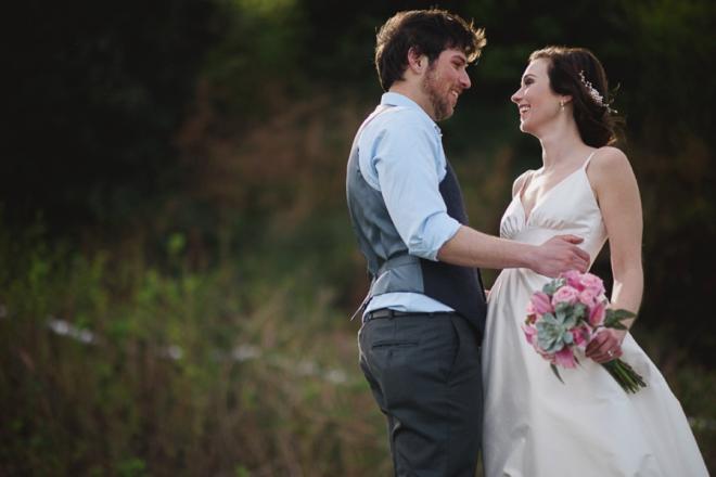 Gorgeous bride and groom portrait