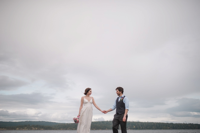 Gorgeous bride and groom portrait