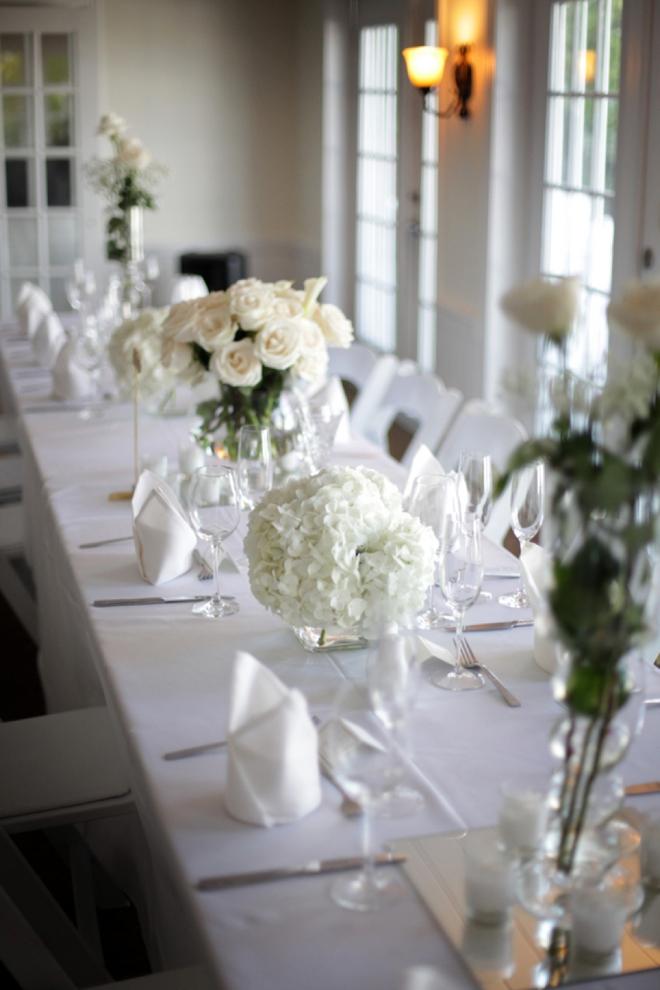 All white beach wedding decor