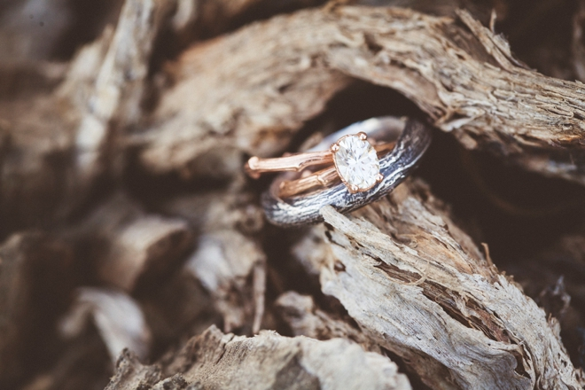 Kristin Coffin twig-style wedding rings
