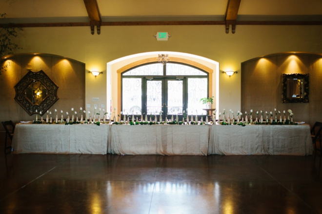 Beautiful vineyard wedding reception