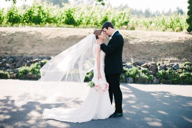 Vineyard wedding portrait