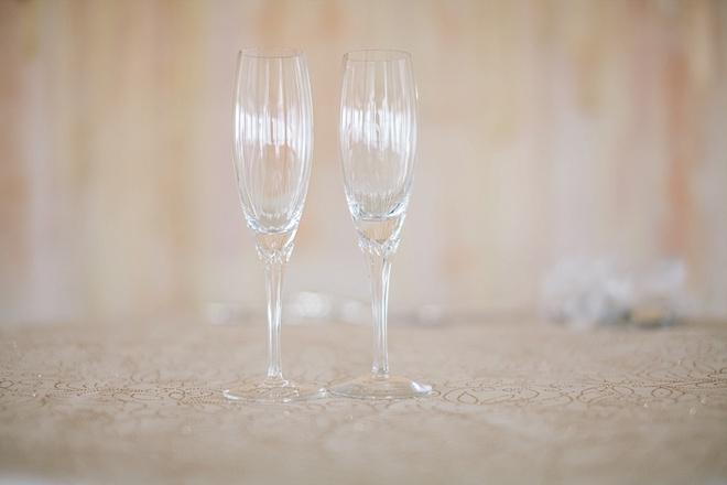 Wedding toasting glasses