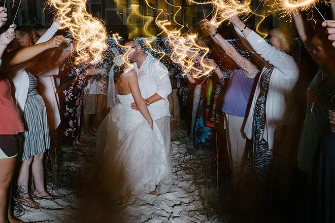 Gorgeous DIY beach wedding with sequin details