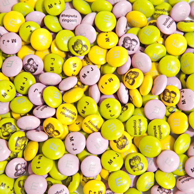 Personalize M&M's for your wedding or bridal shower!
