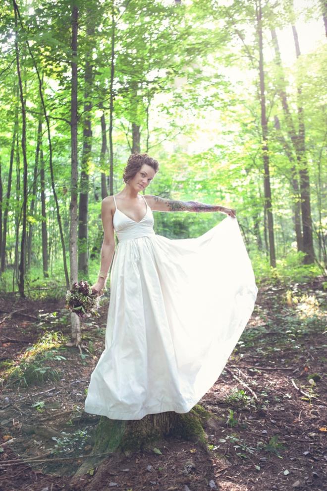 Gorgeous bride in a J.Crew dress