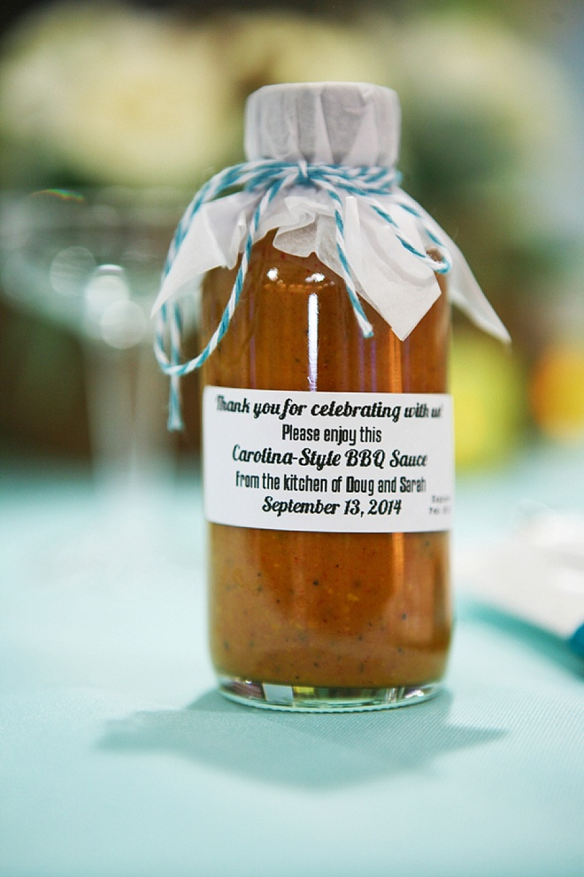 DIY BBQ sauce favors!