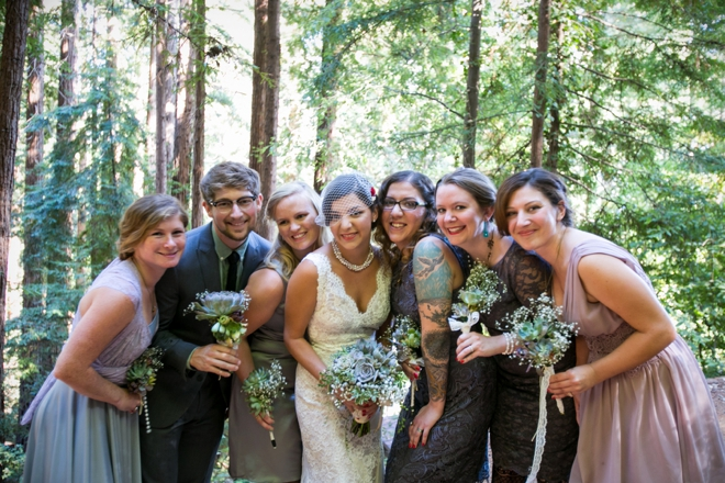 Awesome boho-bridesmaids